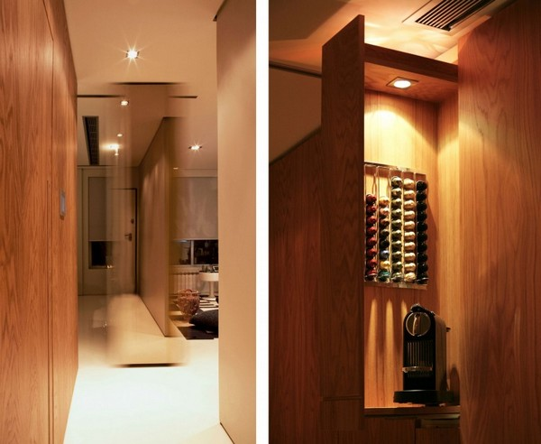 Closet House 05 750x615 Intelligent and Hi Tech Small Apartment With Mind blowing Features [Video]