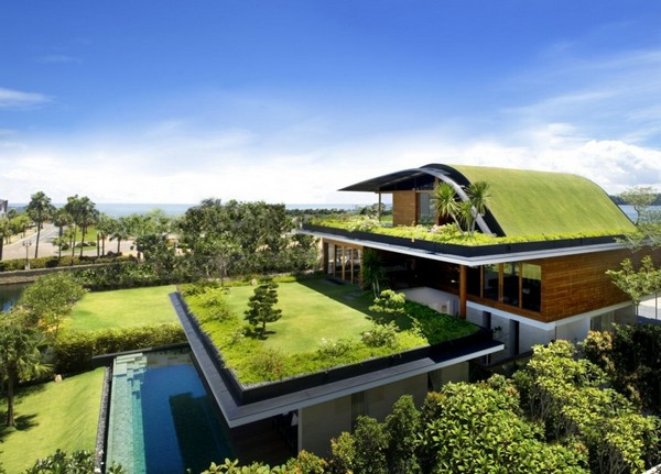 amazing villa Freshome 02 Inspiring Home with One Garden per Level in Singapore