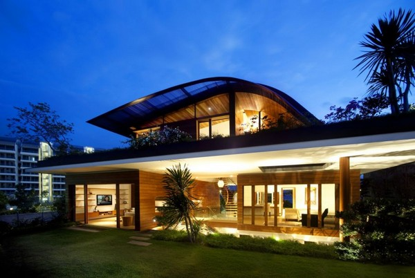 amazing villa Freshome 05 Inspiring Home with One Garden per Level in Singapore
