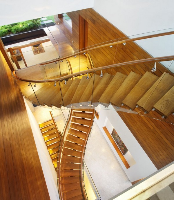 amazing villa Freshome 08 Inspiring Home with One Garden per Level in Singapore
