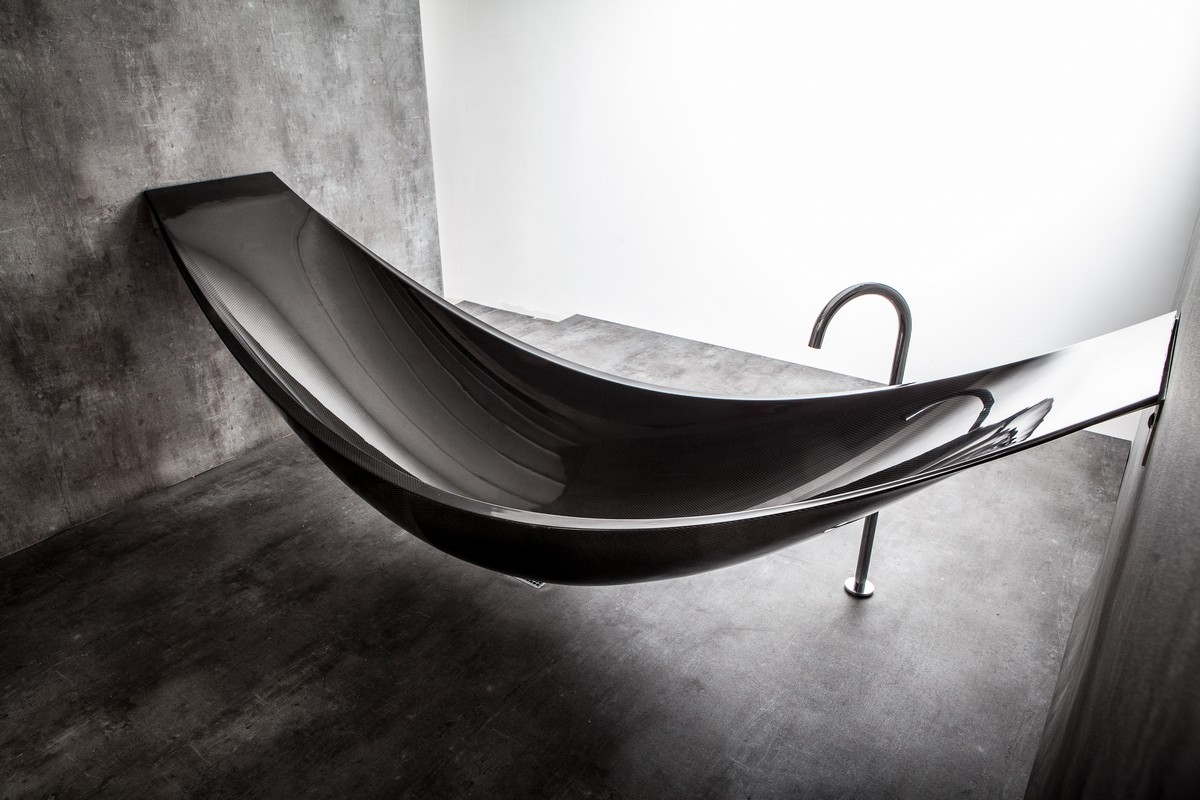 The Art Of Relaxation Bathtub And Hammock Combined By