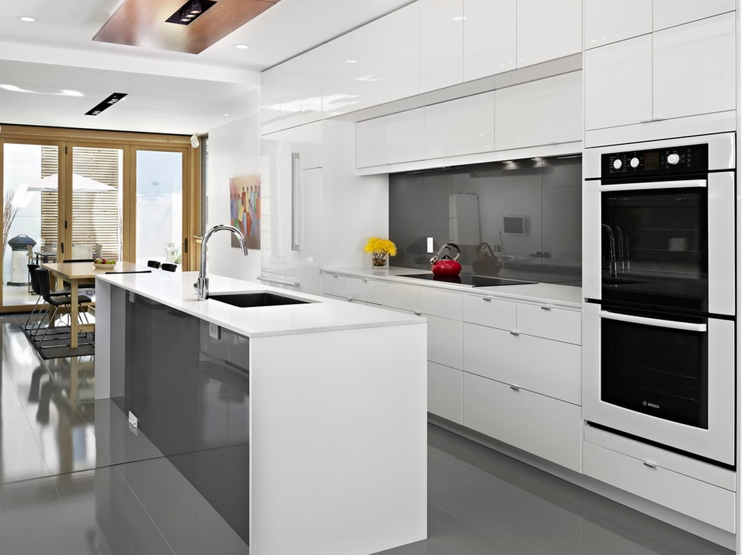 Best 43 Inspiration Modern White Kitchen Decor Ideas