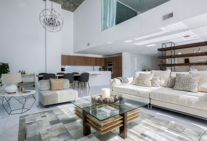 Luxurious Two Level Apartment In Miami Enhanced By Textural