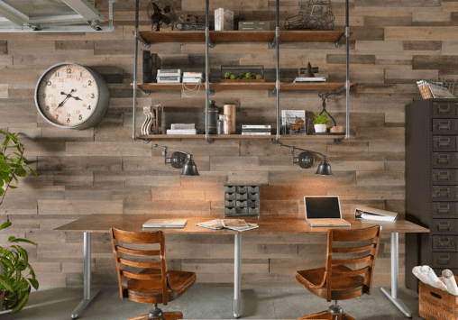 decorating a home office - walls