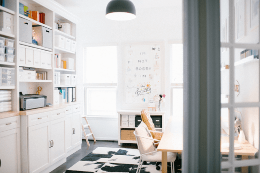 home organization resolutions - office