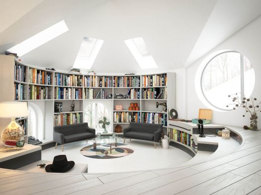 Create a fun space to relax and read books.