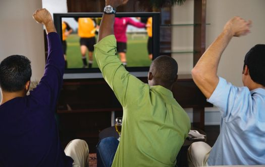 Expect the man cave to be loud during sporting events.