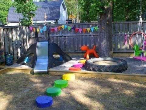 gartenideen kinder abenteuerspielplatz für kinder zum spielen im freien - freshouse