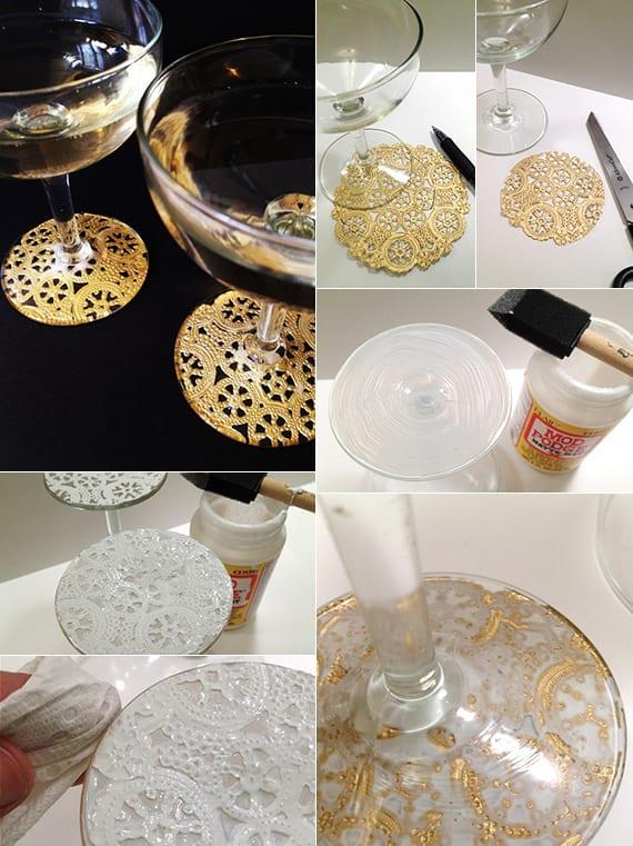 Deko basteln mit Spitze - 17 coole Bastelideen für DIY Deko - fresHouse