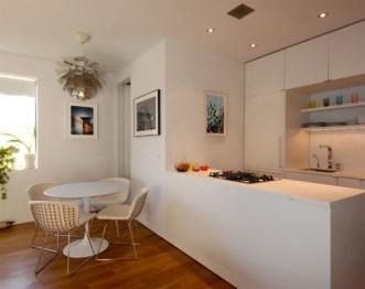 Kitchen interior with chair