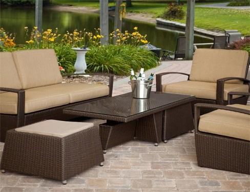 Custom Outdoor Patio Cushions Brown