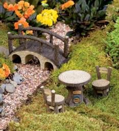 Fairy Garden Tree Stump Furniture Se