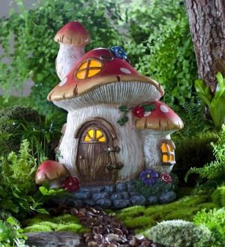 Mushroom Cottage Fairy Garden