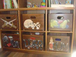 Pirate Wooden Toy Storage
