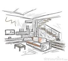 Interior Room Sketch