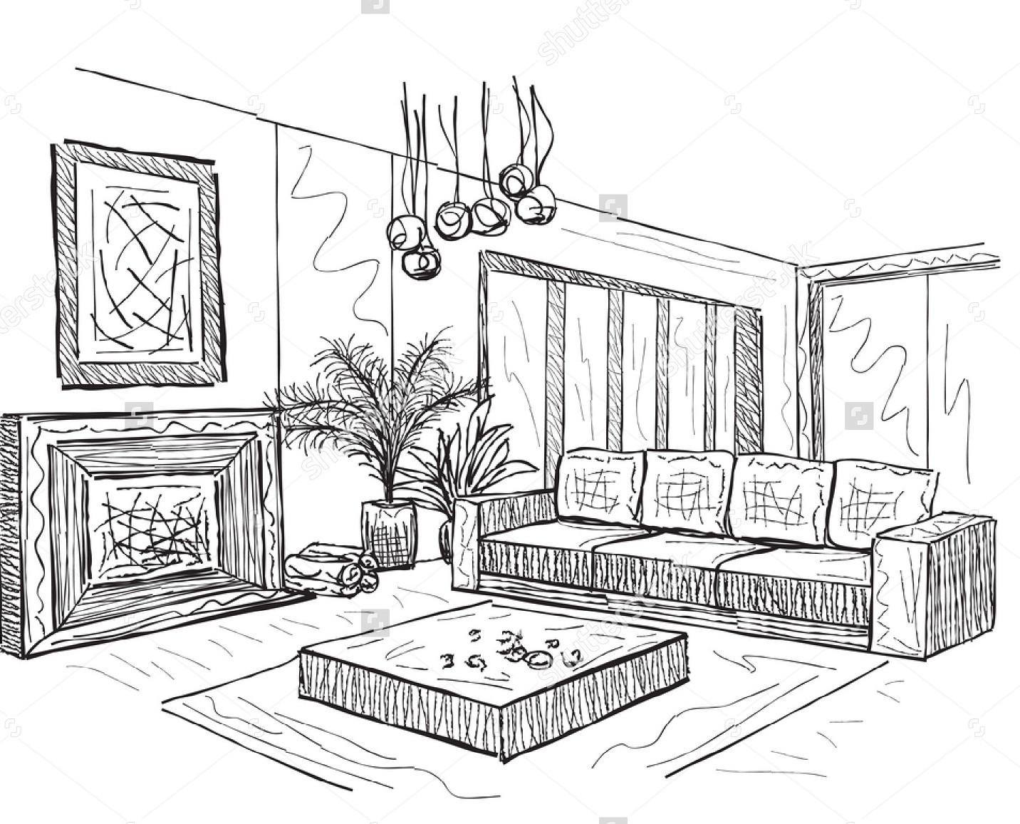 Room Interior Sketch Room Interior Sketch Design Ideas