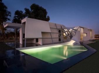 Amazing Modern Unique House Design Ideas With Swimming Pool Within Unique House Design