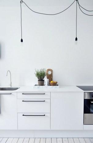 Awesome Minimal Super Stylish White Kitchen Within Minimal White Kitchen