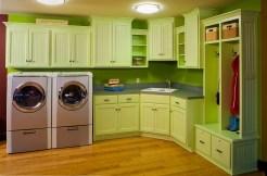 Beautiful Green Laundry Room Designs Inside Laundry Room Design