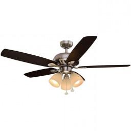 Ceiling Fan By Hampton Bay Rockport 52 In Led Brushed Nickel Ceiling Fan Regarding Ceiling Fan
