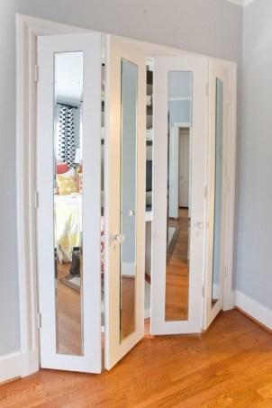 Closet Door With Folding Hooks With Mirror Throughout Closet Door With Folding Hooks