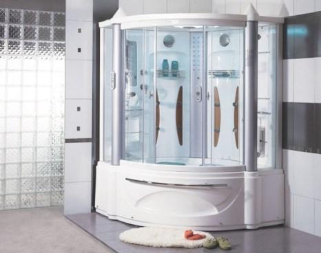 Corner Bathtub And Shower Combination For Corner Whirlpool Shower