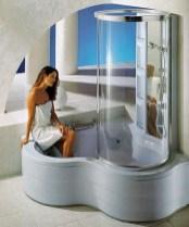Corner Shower Tower: Combination Whirlpool Bath With Regard To Unusual Corner Whirlpool Shower