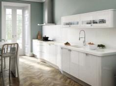 Fresh Idea To Design Your Stainless Steel Aquarium Within Minimal Super Stylish White Kitchen