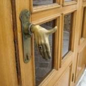 Hand Shake Unique Door Handle With Regard To Unique Door Handles For Minimalist Home