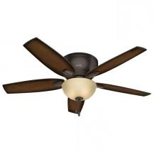 Hunter Oakhurst 52 In Bronze Indoor Low Profile Ceiling Fan With Ceiling Fan