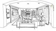 Living Room Interior Design Sketch