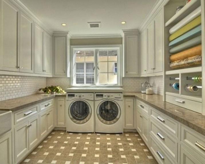 Minimalist Laundry Room Design With Metal Brackets With Regard To Laundry Room Design