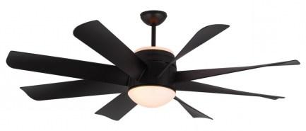 Montecarlo Turbine Ceiling Fan Rubberized Black With Ceiling Fan