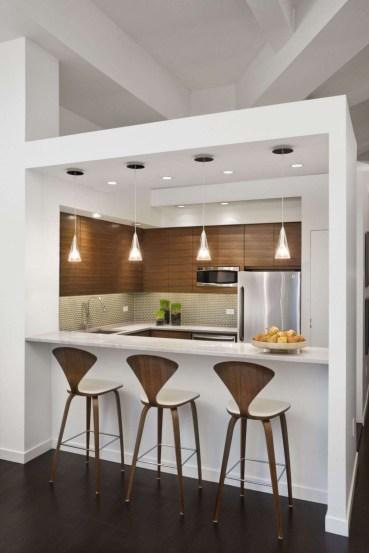 Small Minimalist Apartment Decor Interior With Brown In Minimalist Modern Table