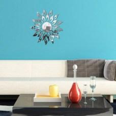 Sun Sunshine Spark Fire Round Flower Crystal Reflective Diy Mirror Regarding Stickers Mirror For Your Wall
