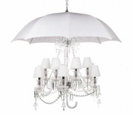 Umbrella 12 Light Chandelier In White In Chandelier With An Umbrella