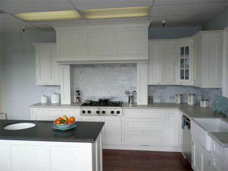 Kitchen Cabinets White Appliances And White