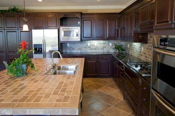 Tile Countertop Kitchen Backsplash