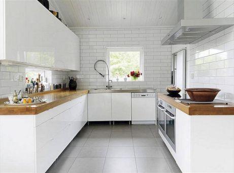White Wood Kitchen Countertops