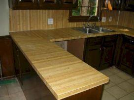 Wood Ceramic Tile Kitchen Countertops