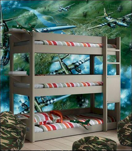 Boys Army Bedroom Decorating Idea