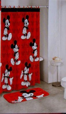 Disney Mickey Mouse Shower Curtain Bathroom