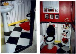 Mickey Mouse Themed Bathroom
