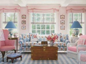 Pink Pastel Blue Living Room