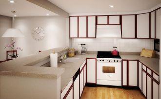 Small Apartment Kitchen Decorating Idea