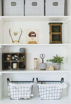 Styling Simple Bookshelf Baskets