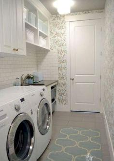 Tiny Mudroom Laundry
