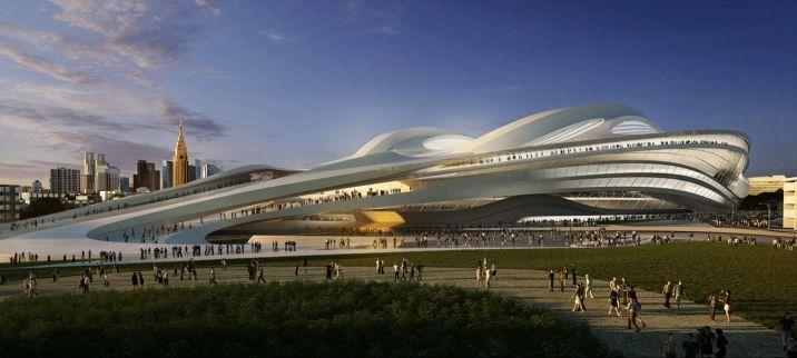 Tokyo Olympic Stadium Zaha Hadid