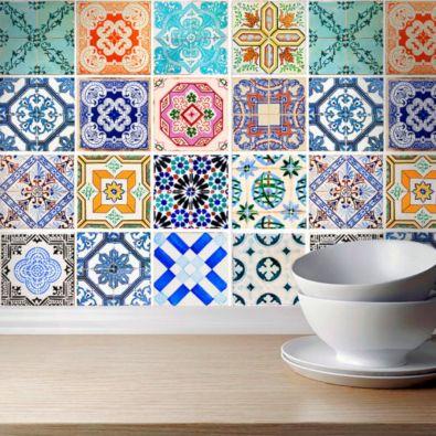 Traditional Spanish Tile Wall