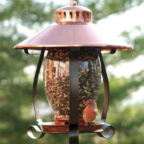 Coppertop Bird Feeder Lantern